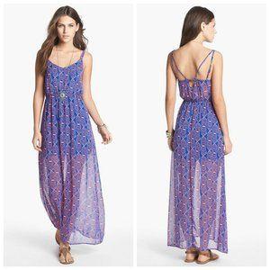 RIPE Chiffon Printed Maxi Dress